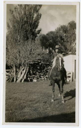 John Cameron on horseback