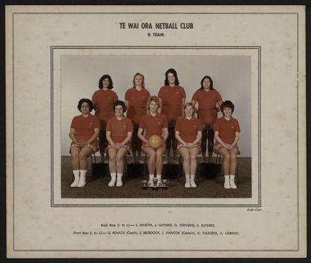 Te Wai Ora Netball Club B Team