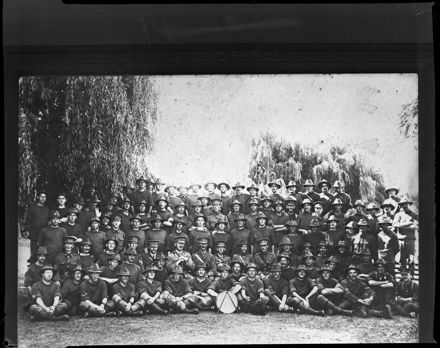 """Members of N.Z. Medical Corps in Camp at Awapuni"""