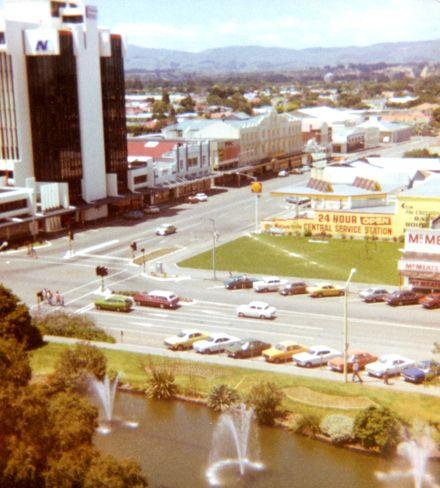 Corner of Te Marae o Hine/The Square and Fitxherbert Avenue