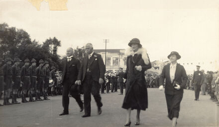Viscountess Galway visiting Palmerston North