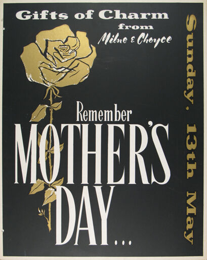 Milne and Choyce advertising poster for Mother's Day