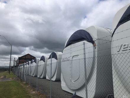 Tutitea Wind Farm parts in Storage