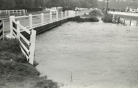 Turitea Stream in flood