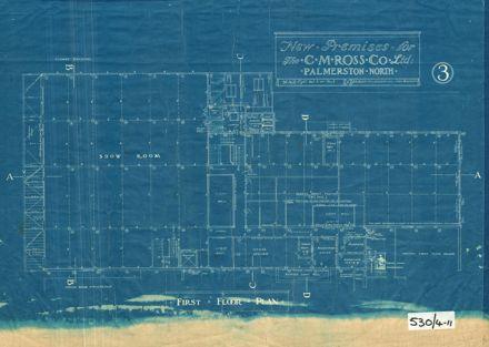 Cm Ross Building, First Floor Plan, 1928
