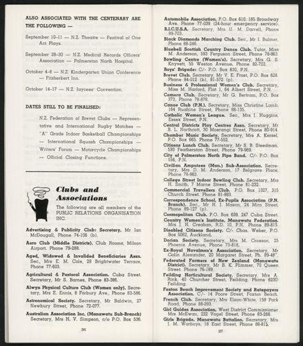 PRO Visitors Guide: Circa 1970's - 22