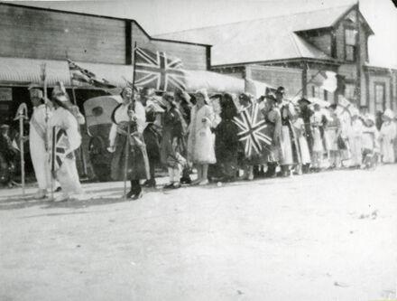 Armistice Day parade in Rongotea