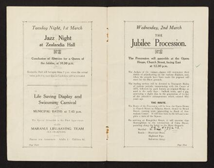 Palmerston North 1927 Jubilee Souvenir Programme 6