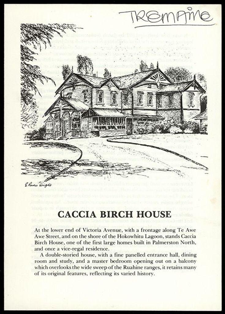 Booklet, Caccia Birch House