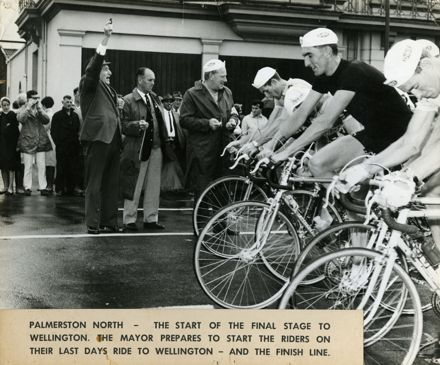 Starting Line of Dulux Six-Day Cycle Race, 1960s
