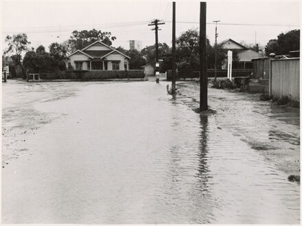 Grey Street in flood