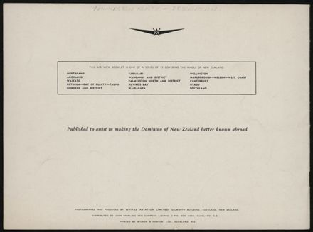 Palmerston North and District, New Zealand (White's Aviation Booklet) 13