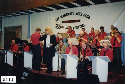 Erna Ferry with the Manawatū Jazz Club Big Band