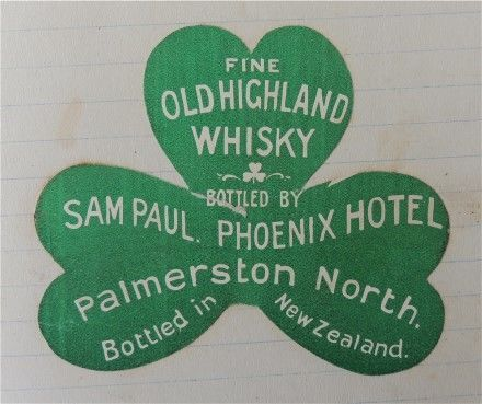 Phoenix Hotel Whisky Label