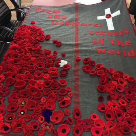 ANZAC Quilt created at the Palmerston North City Library, 2017.