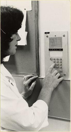 Intercom unit at Palmerston North Public Hospital