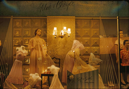 Milne and Choyce window display of women's petticoats and nightwear