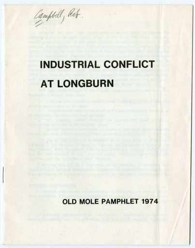 Industrial Conflict at Longburn [Freezing Works]