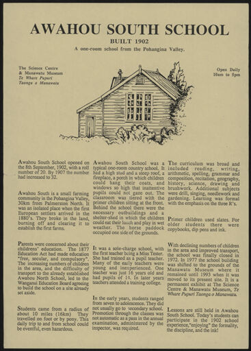 Totaranui and Awahou South School Information Sheet 2