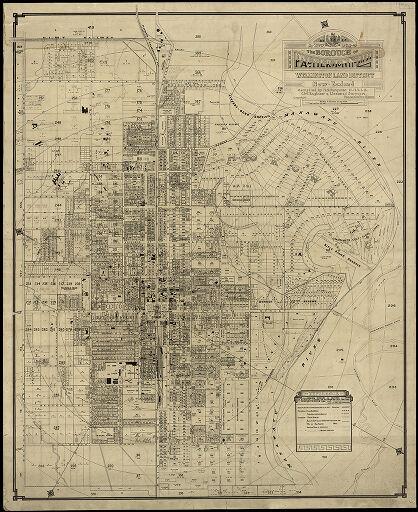 Map of Palmerston North Borough - 1923