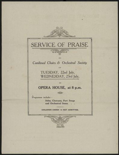 Programme - back page