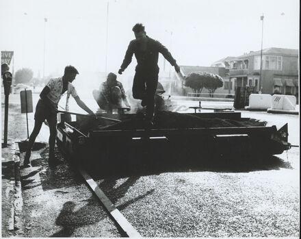 Tar Sealing Machine at Work