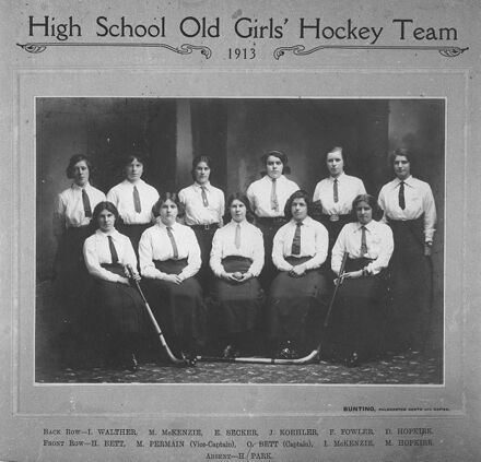 Palmerston North Girls' High School - Old Girls' Hockey Team