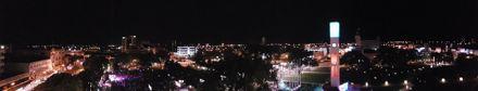 Panorama Palmerston North CBD at night