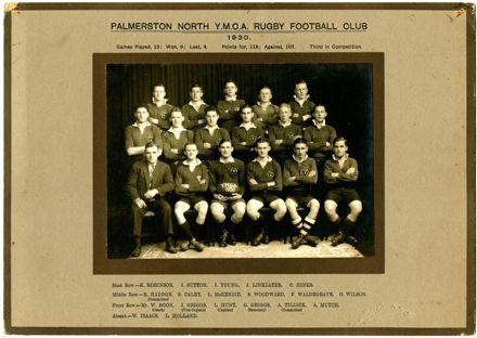 Palmerston North YMCA Rugby Club, 1930