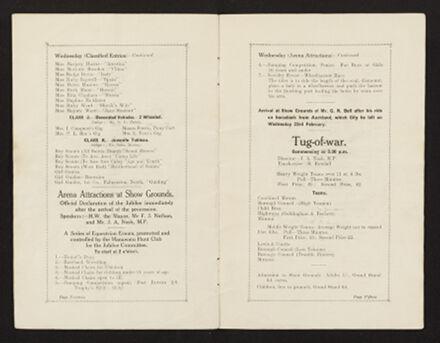 Palmerston North 1927 Jubilee Souvenir Programme 9
