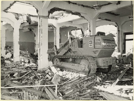 Demoliton of Public Library, corner of Fitzherbert Avenue and The Square