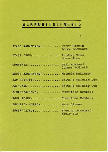 Jazz Festival Programme 1988 6