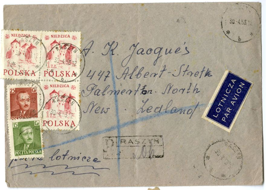 Envelope addressed to the Polish Army League
