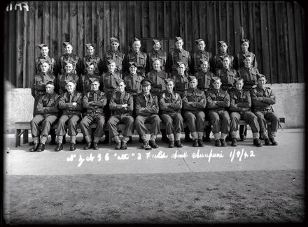 NZASC 2nd Field Ambulance group at Awapuni Racecourse