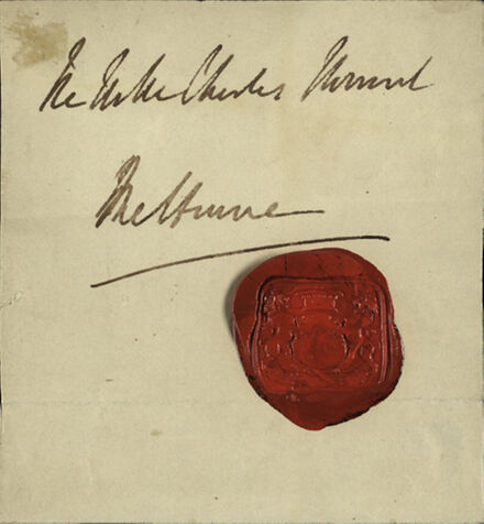 Signature and seal of Lord Melbourne