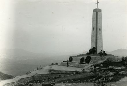 Image of Polish memorial at Monte Cassino, Italy, sent to Polish Army League