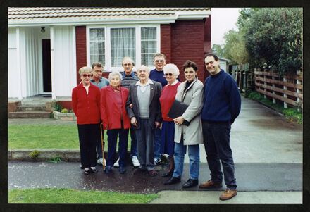 Tony Evans Collection: Crew and residents of Savage Crescent gathered for filming of Ediface television programme