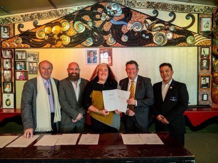 Rangitāne Partnership Agreement Signing