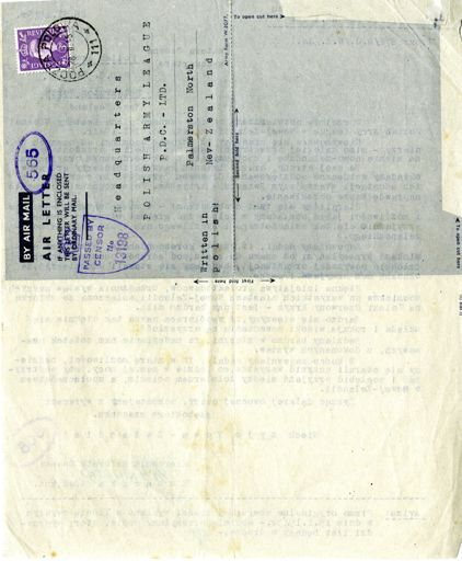 Polish Army League correspondence