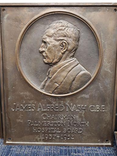 James Albert Nash CBE, bronze plaque
