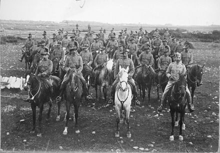 A unit of Mounted Rifles