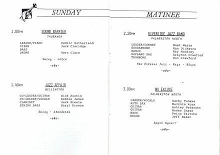 Jazz Festival Programme 1988 2