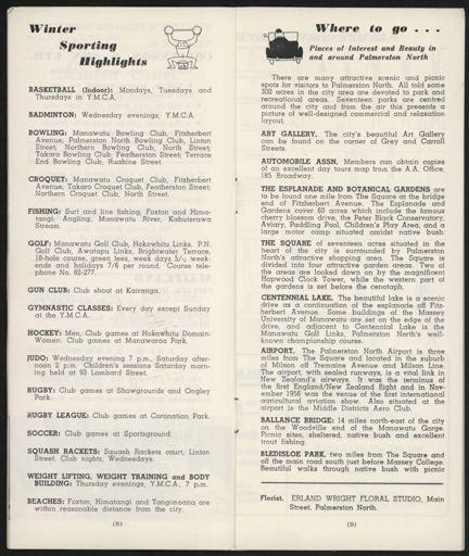 Visitors Guide Palmerston North: April-June 1966 - 6