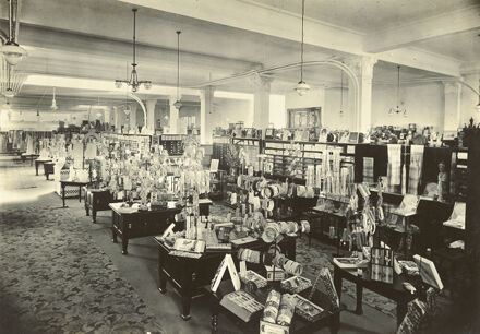 Interior of C M Ross Co department store
