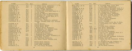 Wellington Infantry Regiment 1914-1918 booklet - 10