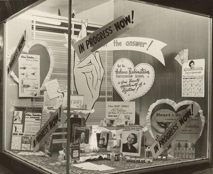 Helena Rubenstein window display at the Premier Depatrment Company