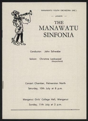 Manawatū Sinfonia concert programme