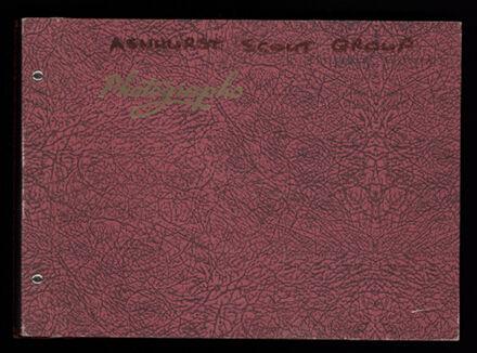 Ashhurst Scout Group Album, 1967-1973 1