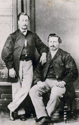 Henry Phillips and friend