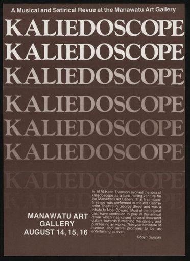 Manawatu Art Gallery revue flyer